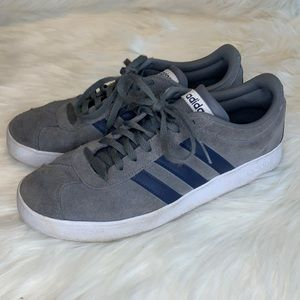 Adidas men's VL Court 2.0 suede skater sneakers